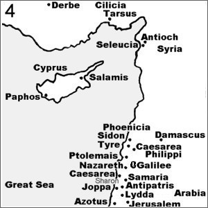 Map Cyprus and Persia