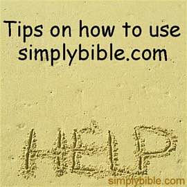 Simply Bible Help Page